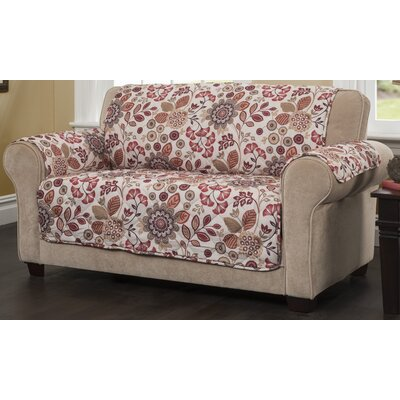 Palladio Box Cushion Sofa Slipcover Upholstery: Rust