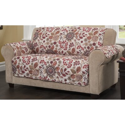 Palladio Loveseat Slipcover Upholstery: Rust