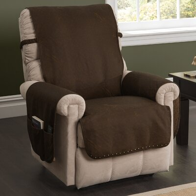 Box Cushion Recliner Slipcover Color: Brown 9382RECL-BROWN