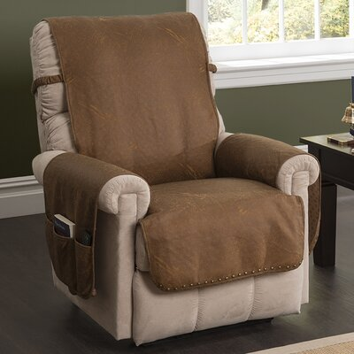 Box Cushion Recliner Slipcover Color: Cognac