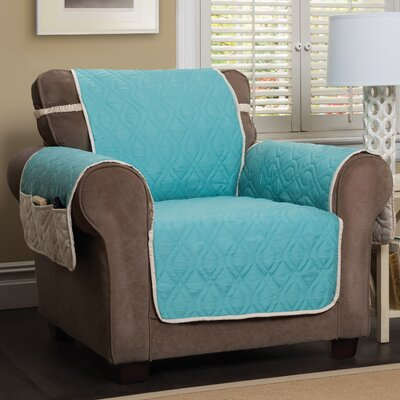 Five Star Box Cushion Armchair Slipcover Color: Blue