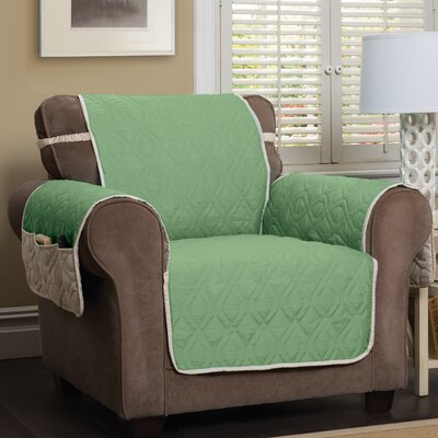 Box Cushion Armchair Slipcover Color: Green