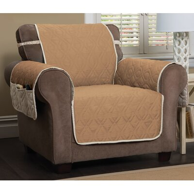 Box Cushion Armchair Slipcover Color: Toast