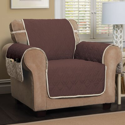 Five Star Box Cushion Armchair Slipcover Color: Chocolate