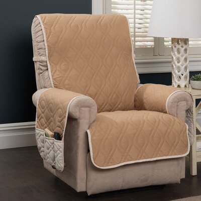 Box Cushion Recliner Slipcover Color: Toast