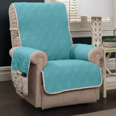 Box Cushion Recliner Slipcover Color: Blue