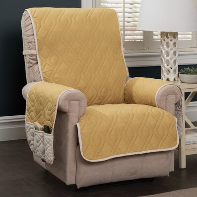 Box Cushion Recliner Slipcover Color: Gold