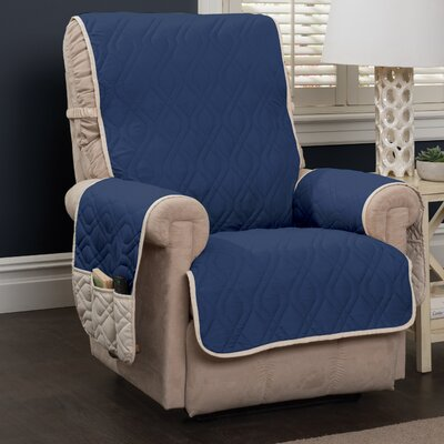 Five Star Furniture Protector Recliner Slipcover Color: Navy Blue
