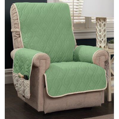 Five Star Box Cushion Recliner Slipcover Color: Green