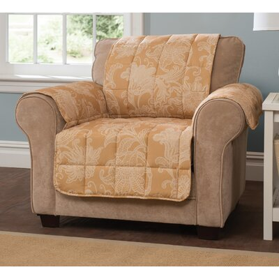 Elnora Arm Chair Slipcover Color: Gold