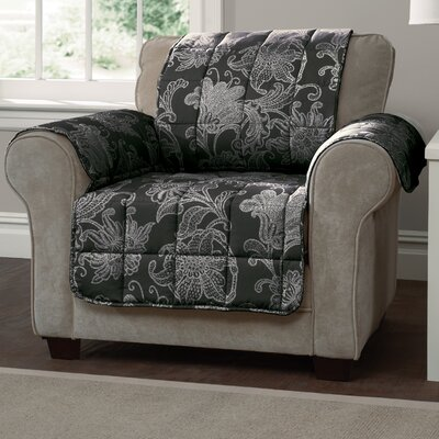 Elnora Arm Chair Slipcover Color: Black