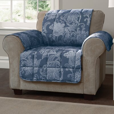 Elnora Arm Chair Slipcover Color: Blue
