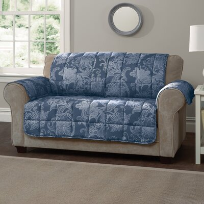 Elnora Sofa Slipcover Color: Blue