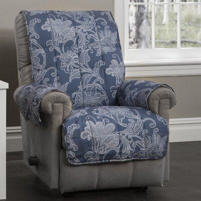 Elnora Recliner Slipcover Color: Blue