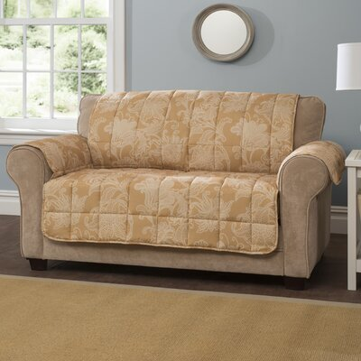 Elnora Sofa Slipcover Color: Gold