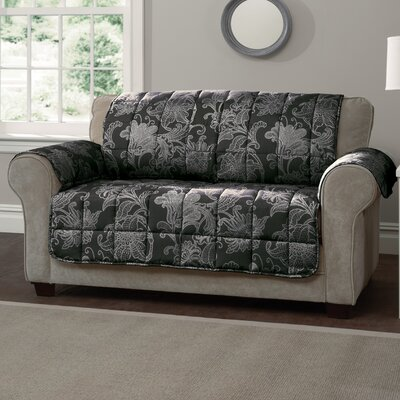Elnora Sofa Slipcover Color: Black
