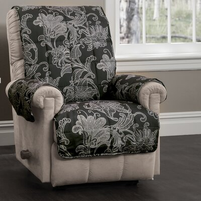 Elnora Recliner Slipcover Color: Black