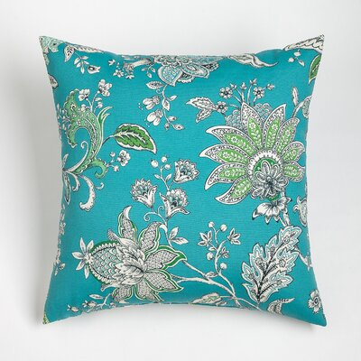 Melody Outdoor Throw Pillow Size: 20 H x 20 W, Color: Aqua