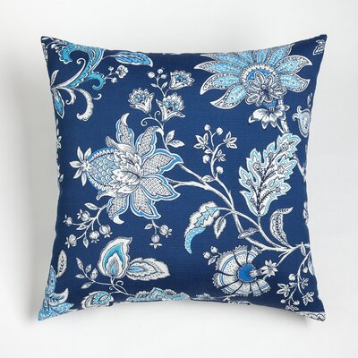 Melody Outdoor Throw Pillow Size: 20 H x 20 W, Color: Navy