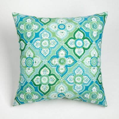 Hennessy Outdoor Throw Pillow Size: 17 H x 17 W, Color: Aqua