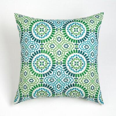 Maura Mosaic Outdoor Throw Pillow Size: 20 H x 20 W, Color: Aqua