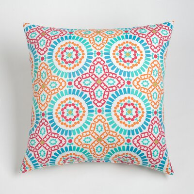 Maura Mosaic Outdoor Throw Pillow Size: 17 H x 17 W, Color: Jalapeno