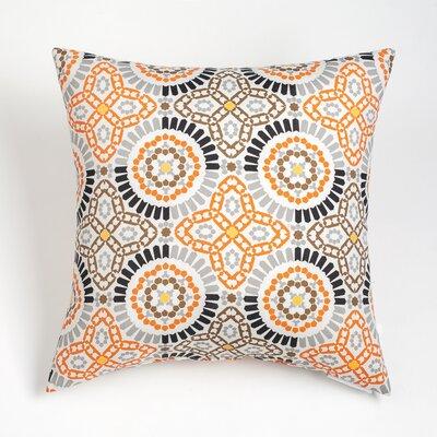 Maura Mosaic Outdoor Throw Pillow Size: 17 H x 17 W, Color: Melon