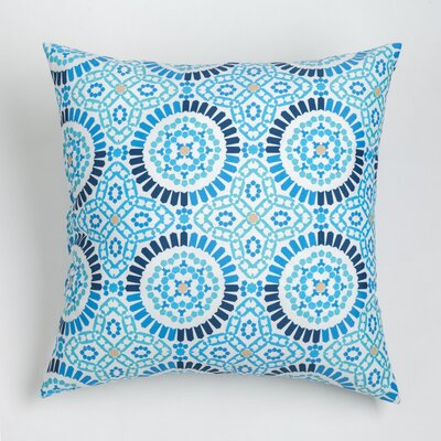 Maura Mosaic Outdoor Throw Pillow Size: 20 H x 20 W, Color: Navy