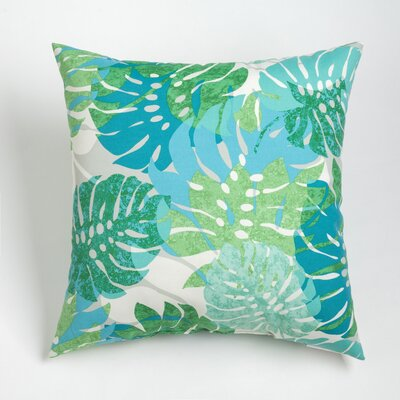 Nicola Outdoor Throw Pillow Size: 20 H x 20 W, Color: Aqua