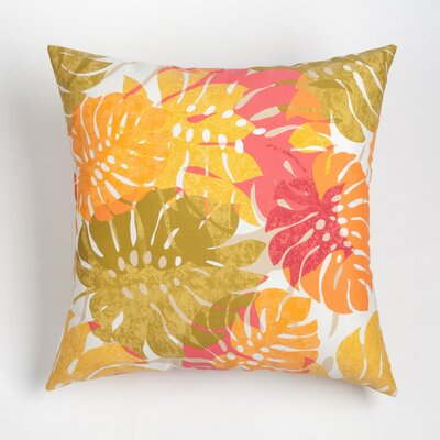 Nicola Outdoor Throw Pillow Size: 20 H x 20 W, Color: Jalapeno