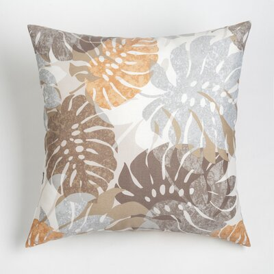 Nicola Outdoor Throw Pillow Size: 17 H x 17 W, Color: Melon