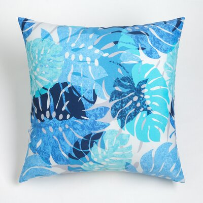 Nicola Outdoor Throw Pillow Size: 17 H x 17 W, Color: Navy