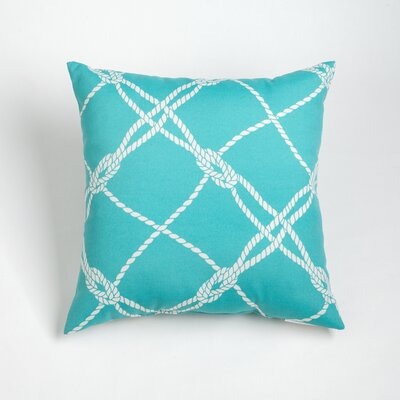 Edmeston Outdoor Throw Pillow Size: 17 H x 17 W, Color: Aqua