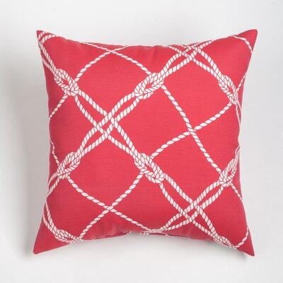 Edmeston Outdoor Throw Pillow Size: 17 H x 17 W, Color: Jalapeno