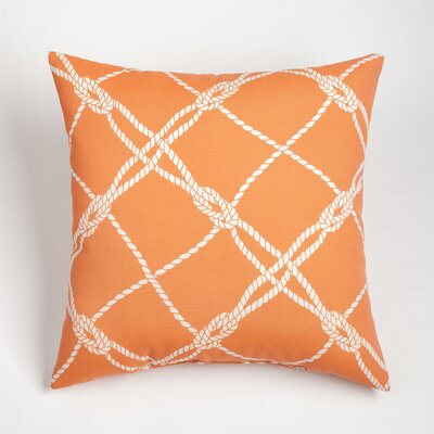Edmeston Outdoor Throw Pillow Size: 20 H x 20 W, Color: Melon