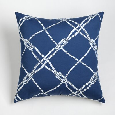 Edmeston Outdoor Throw Pillow Size: 20 H x 20 W, Color: Navy
