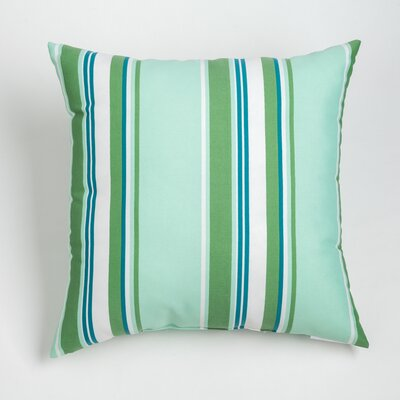 Gayle Outdoor Throw Pillow Size: 17 H x 17 W, Color: Aqua