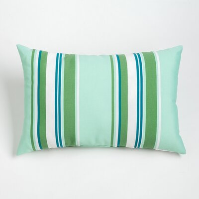 Gayle Outdoor Lumbar Pillow Color: Aqua