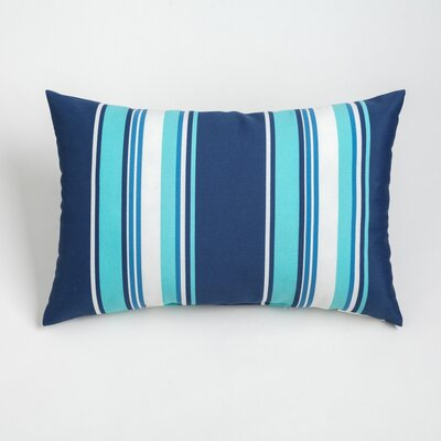 Gayle Outdoor Lumbar Pillow Color: Navy