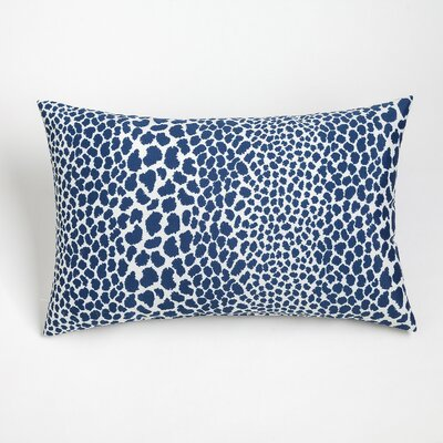 Naguib Outdoor Lumbar Pillow Color: Navy