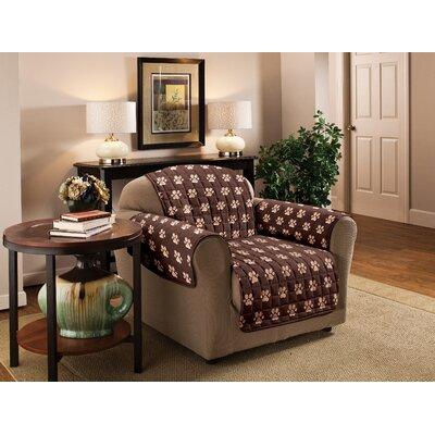 Box Cushion Armchair Slipcover Color: Chocolate