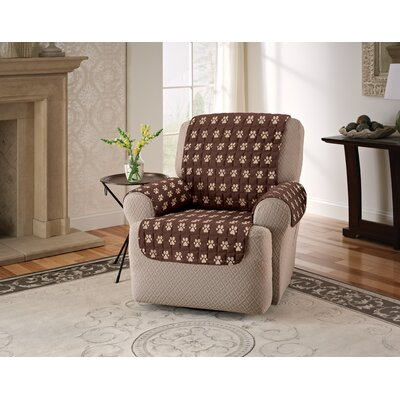 Polyester Microfiber Recliner Slipcover Color: Chocolate