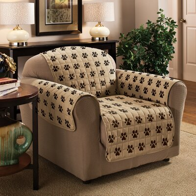 Box Cushion Armchair Slipcover Color: Natural