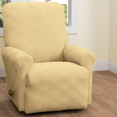 Double Diamond Stretch Sensations Recliner Slipcover Upholstery: Butter