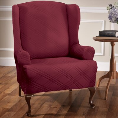 Sensations T-Cushion Wingback Slipcover Upholstery: Brick
