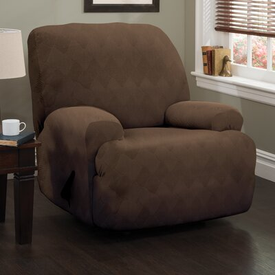 Madden Stretch Polyester Recliner Slipcover Upholstery: Chocolate