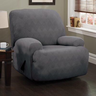 Levine T-Cushion Recliner Slipcover Upholstery: Gray
