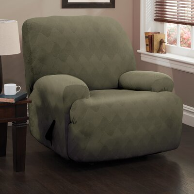 Levine T-Cushion Recliner Slipcover Upholstery: Sage