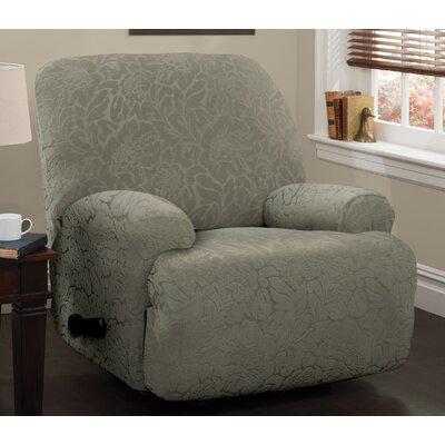 Jumbo T-Cushion Recliner Slipcover Upholstery: Sage
