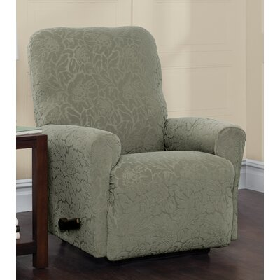 Box Cushion Recliner Slipcover Upholstery: Sage